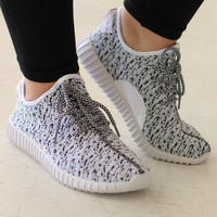 Sporty Spice Trendy Sneakers ~ White ~ Sizes 7-11
