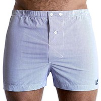 Blue & White Mini Stripe Boxer Short - Nicky