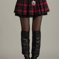 Plaid Pleated High Waist Mini Skirt