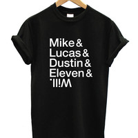 Stranger Things Tshirt MIKE LUCAS ELEVEN tshirt