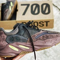 ADIDAS YEEZY 700 V2 BOOST Tide brand men and women fashion wild retro sports shoes coffee