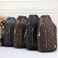 LV louis vuitton hot sale zipper waist bag men and women shoulder messenger bag