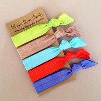 The Ellie Hair Tie Collection -  Ponytail Holder - by Elastic Hair Bandz