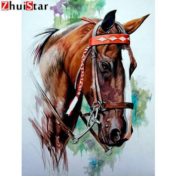 5D Diamond Painting Horse in a Bridle Kit