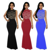 Sleeveless  Evening Party Gown Dress