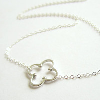 Sterling Silver Quatrefoil Necklace