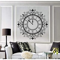 Vinyl Wall Decal Mechanical Wall Clocks Time Home Decor Stickers Unique Gift (1275ig)
