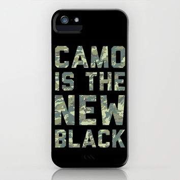 Camo is the New Black iPhone & iPod Case by LookHUMAN