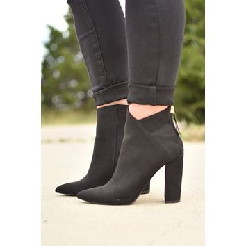 In The City Booties. - Black