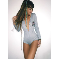 Unicorn Patch Grey Onesuit