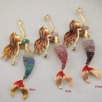 Big Mermaid & Phone Case Deco Den Cabochon Alloy Accessories For Phone Case Deco Den