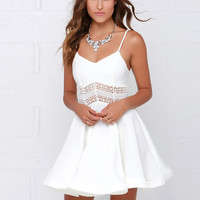 White Black Vestidos 2017 Summer Fashion Women Sexy Strap V Neck Crochet Lace Waist Skater Dress Casual Party Mini Short Dresses