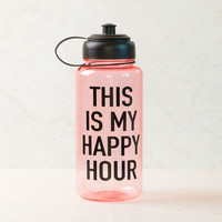 This is My Happy Hour Pink Sports Water Bottle