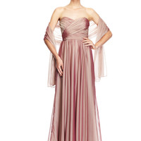BADGLEY MISCHKA Sherbert Strapless Gown with Sweetheart Neckline