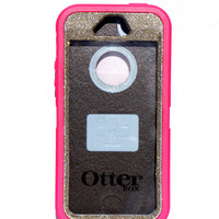 Otterbox Case iPhone 5/5s Glitter Cute Sparkly Bling Defender Series Custom Case white gold / Pink