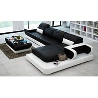 Urban Trend Classic Leather Sectional Sofa Set