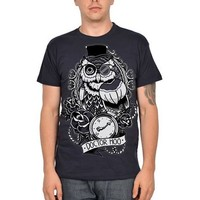 "Men's ""Doctor Who Owl"" Tee by Too Fast Apparel (Grey)"