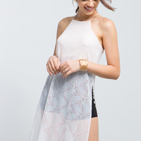 Imogen Lace Side Slit Tunic