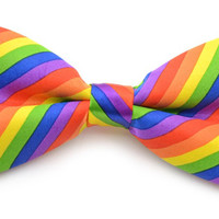 Bow Tie Gay Pride Rainbow Lesbian Bisexual LGBT Stripes