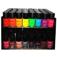 Matte Style 16 Piece Color Nail Lacquer Combo Set + 6 Sets of Fruit Scented Nail Polish Remover