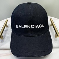Balenciaga New fashion embroidery letter cap hat Black