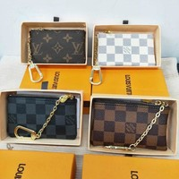 LV Louis Vuitton Hot Sale Classic Monogram Canvas PU Leather Small Coin Purse Key Pouch I/A