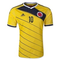 Colombia 2014 JAMES Authentic Home Soccer Jersey - WorldSoccerShop.com