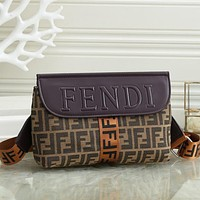 FENDI Fashion Leather Crossbody Satchel Shoulder Bag