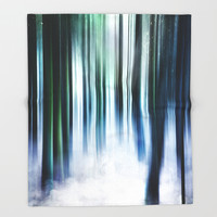 Magical Forests Throw Blanket by happymelvin
