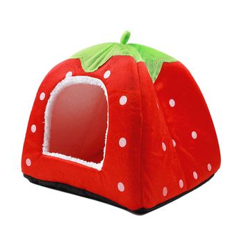 uxcell Soft Warm Strawberry Pet Dog Cat Bed House Kennel Puppy Cushion Basket Pad