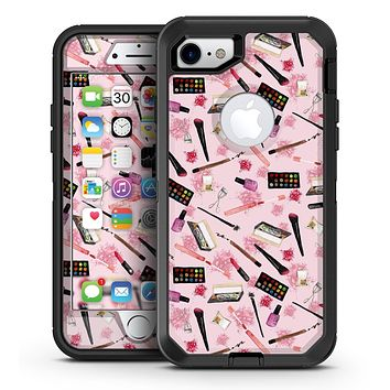 The Pink Out of the MakeUp Bag Pattern - iPhone 7 or 7 Plus OtterBox Defender Case Skin Decal Kit