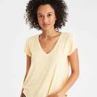 AE Soft & Sexy V-Neck Favorite T-Shirt, Yellow