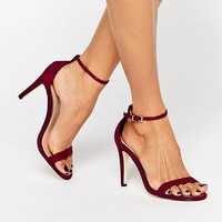 Call It Spring Liraniel Fuschia Barely There Heeled Sandals at asos.com