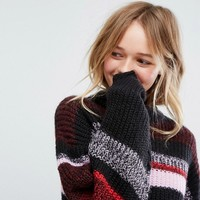 Monki Color Block Stripe Sweater at asos.com
