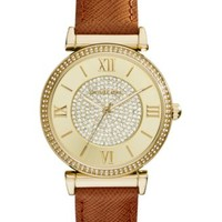 Michael Kors Women's Chronograph Parker Chocolate Brown Leather Strap Watch 39mm MK2249 | macys.com