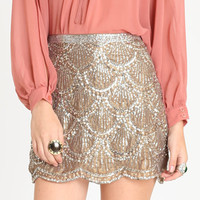 Uptown Gala Sequin Skirt - $74.00 : ThreadSence.com, Your Spot For Indie Clothing  Indie Urban Culture
