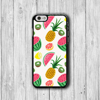 Tropical Fruit Watermelon Pineapple iPhone 6 Cover, Hawaii iPhone 6 Plus, iPhone 5S, iPhone 4S Funny Case, Rubber Deco Accessories Gift
