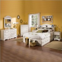 """South Shore Furniture, Summer Breeze Collection, Full Mates Bed 54"""", Vanilla Cream"""