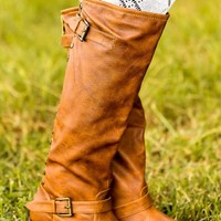 Stand For Something Boots-Cognac