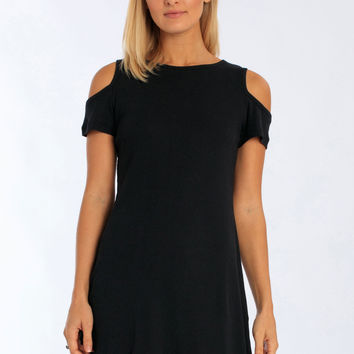 Miami Style® - Women's Cold Shoulder Rib Dress