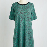 Mid-length Short Sleeves Shift Ravishing Recommendation Dress in Fronds