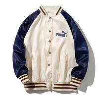 PUMA Fashion Women Men Casual Cardigan Sweatshirt Jacket Coat Windbreaker Sportswear
