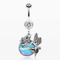 Opal Mystique Fairy Belly Button Ring