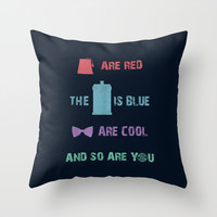 Doctor Who Throw Pillow by Sally Diamonds