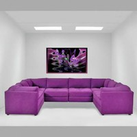 The Pit Contemporary Sectional   Modern sectional made in the USA