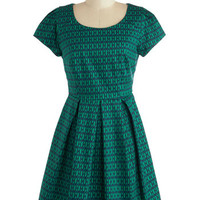 ModCloth Mid-length Short Sleeves A-line That Print! Dress