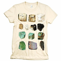 Minerals Gems WOMEN'S Tshirt by babbletees on Etsy