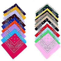New Cotton Blended Hip-hop Bandanas Head Scarf Scarves For Male Female Men Women CC0150