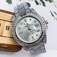 Rolex new diamond personality men's and women's casual business watche