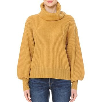 Balloon Sleeve Knit Sweater